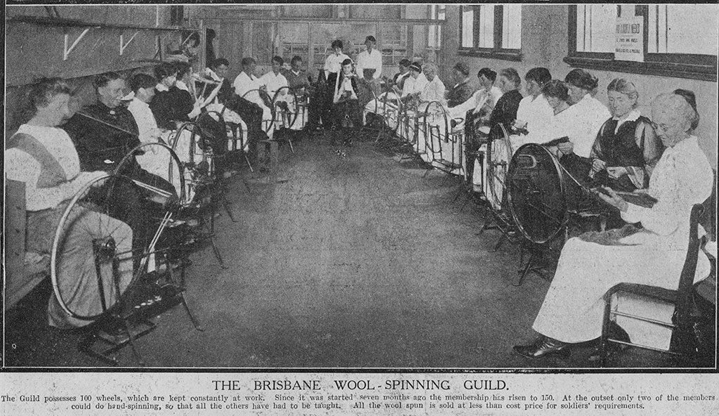 Brisbane Wool Spinning Guild 1917. Photo - State Library of QLD