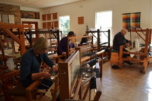 Saori style weaving on the Sturt looms