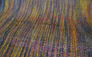 woven fabric with twill inlay