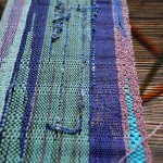 Saori cloth on loom