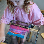4 year old weaving