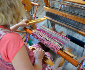 Weaving on a loom