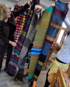 lots of woven cloth