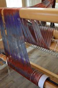 Two warp beams for weaving