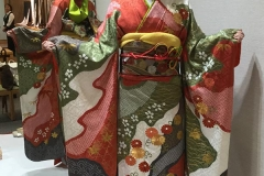 Young girls still look to buying a kimono with their mothers