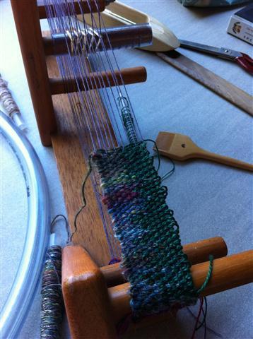 Converting an Inkle loom for Saori style weaving